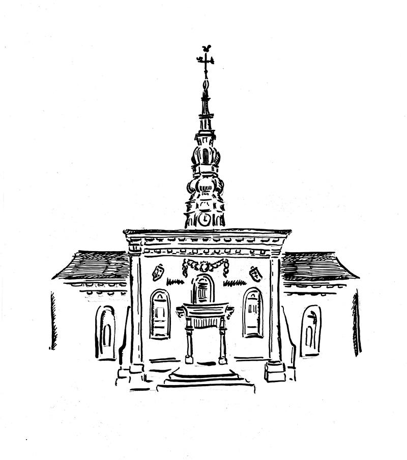 Logo-Nieuwe_kerk_frank_petiet_schets