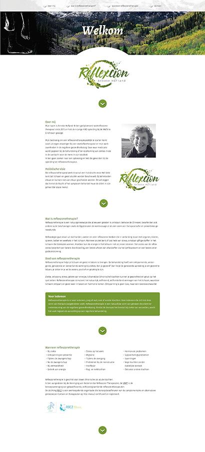 Reflexcion website voorbeeld